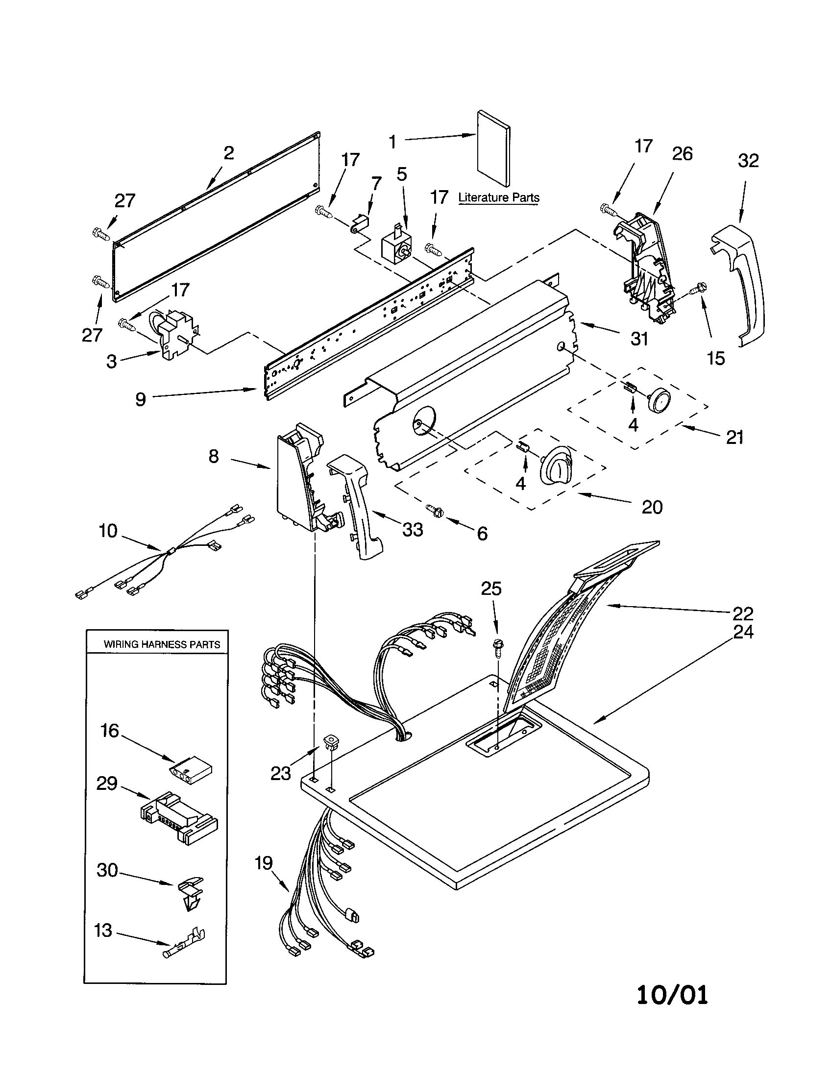 hight resolution of 11062622101 electric dryer top and console parts diagram