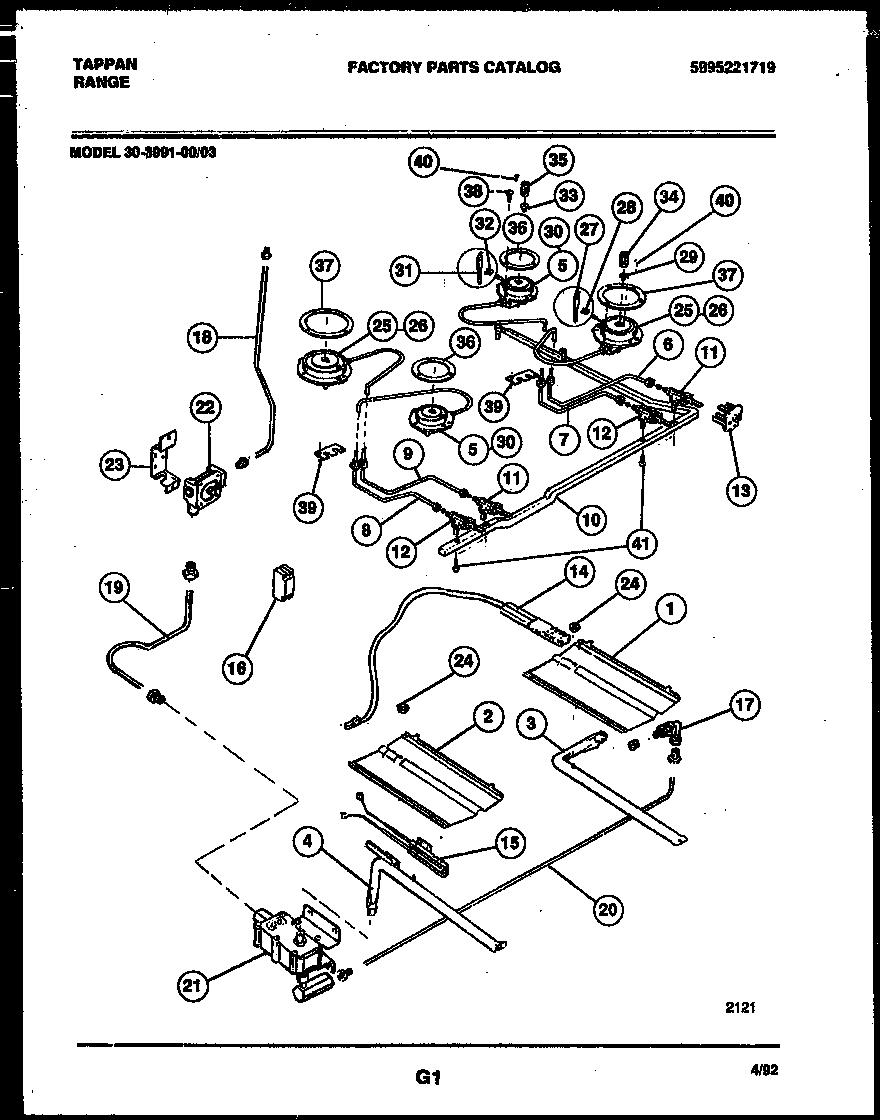 tappan stove wiring diagram