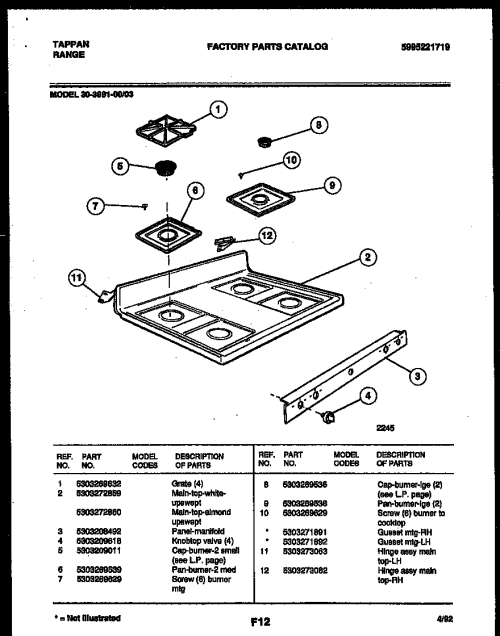 small resolution of 3039910003 range gas cooktop parts diagram