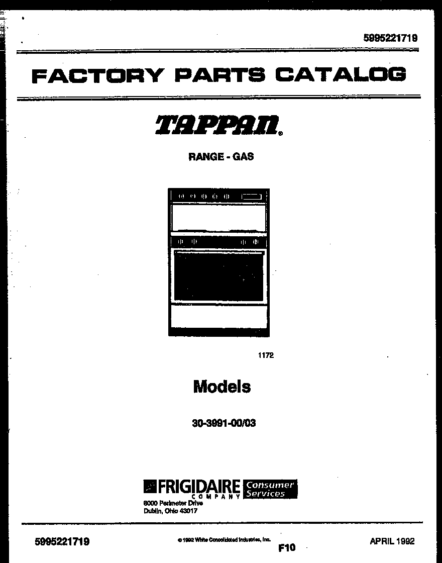 Tappan Appliances Wiring Diagram Auto Electrical 1992 Gl1500 3039910003 Range Gas Timer