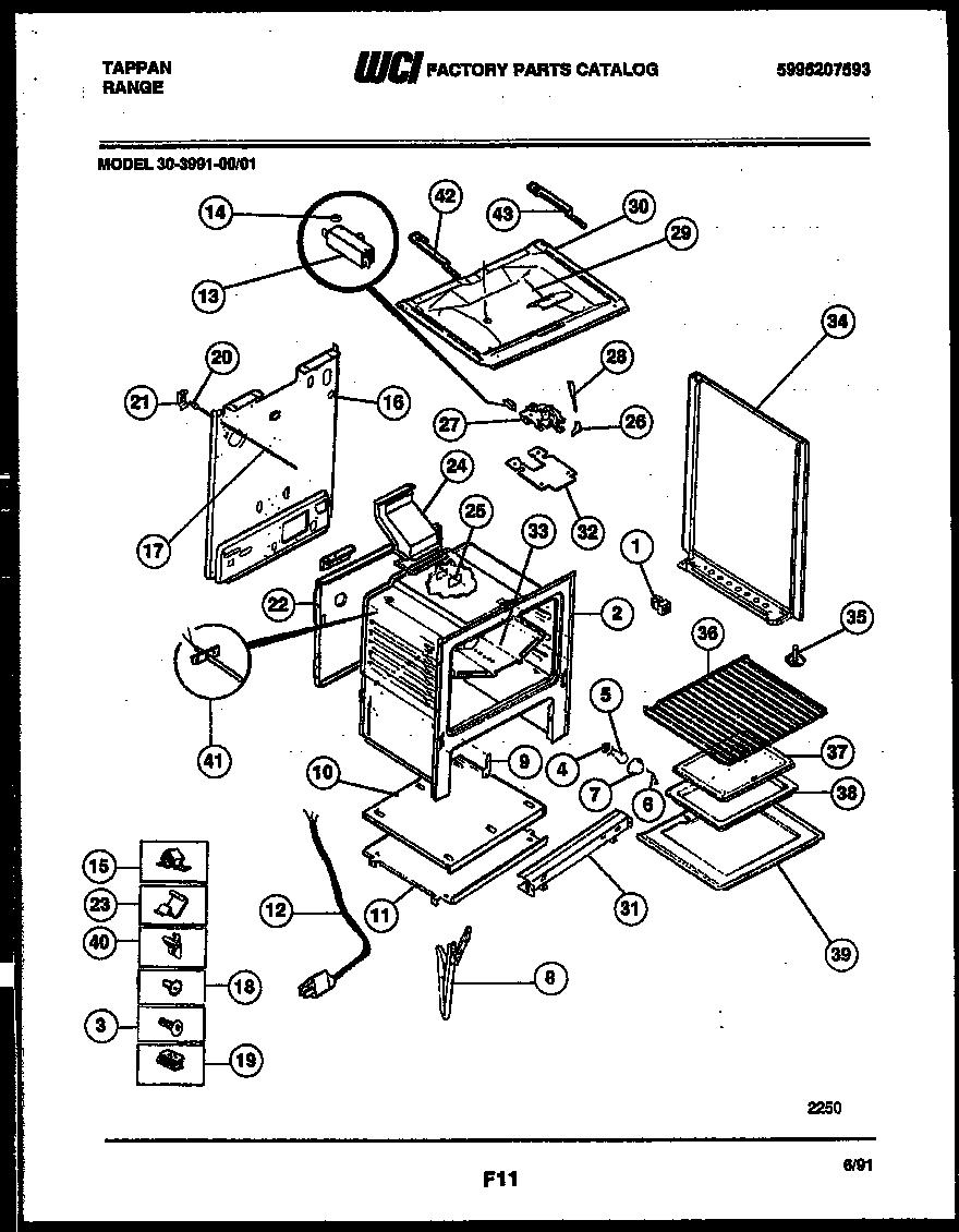 Tappan Electric Range 5995263372 Wiring Diagram Parts Model