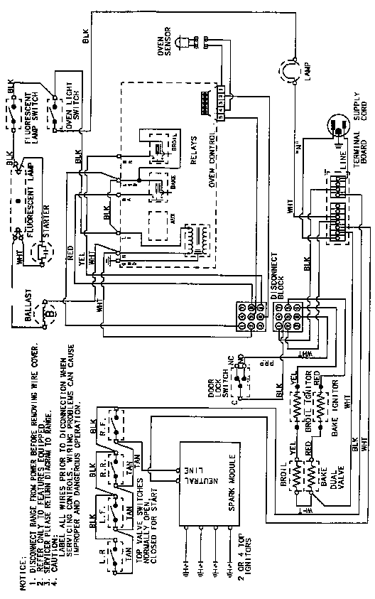magic chef range wiring diagram