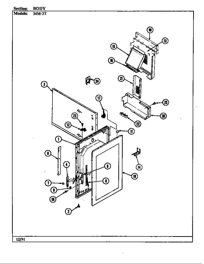 34ma3 xw range body parts diagram