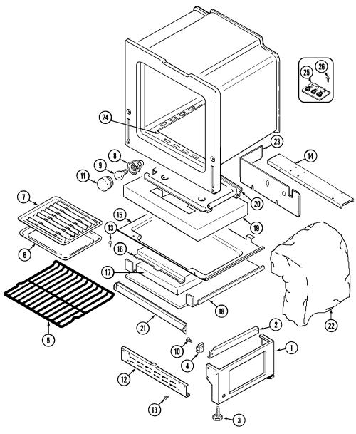 small resolution of 6498vta gas range oven base parts diagram