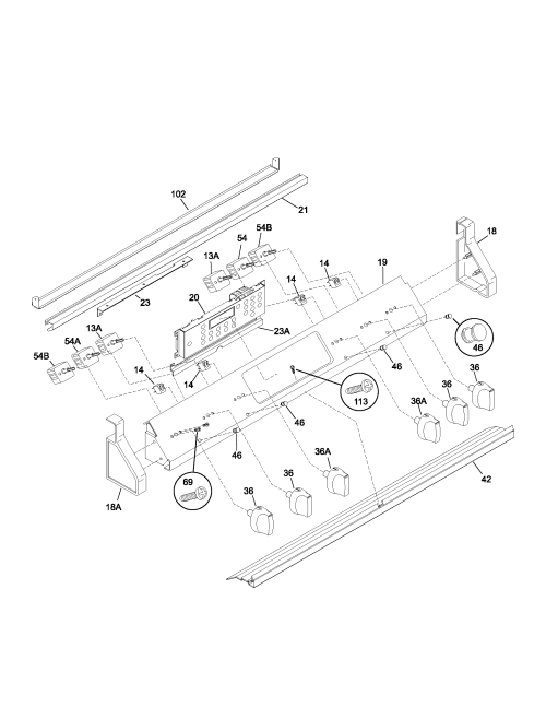 small resolution of 790461233 electric range backguard parts diagram