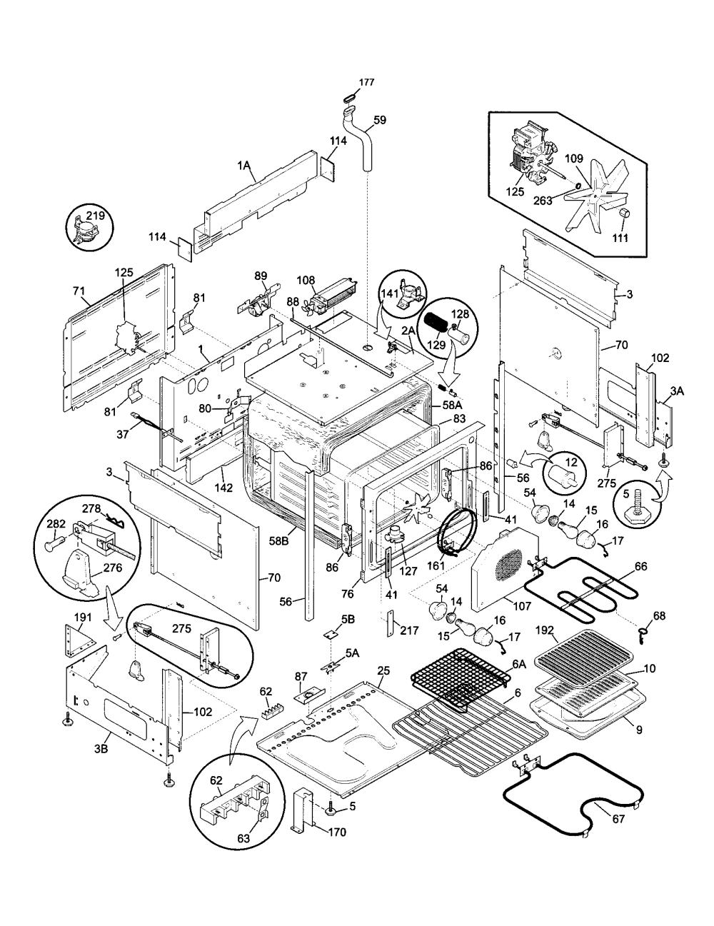 medium resolution of 79046802992 elite electric slide in range body parts diagram kenmore 79046802992