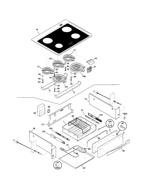 small resolution of 79046803991 elite electric slide in range top drawer parts diagram
