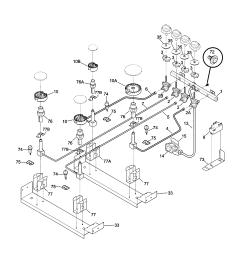 79046819992 elite dual fuel slide in range burner parts diagram [ 1696 x 2200 Pixel ]