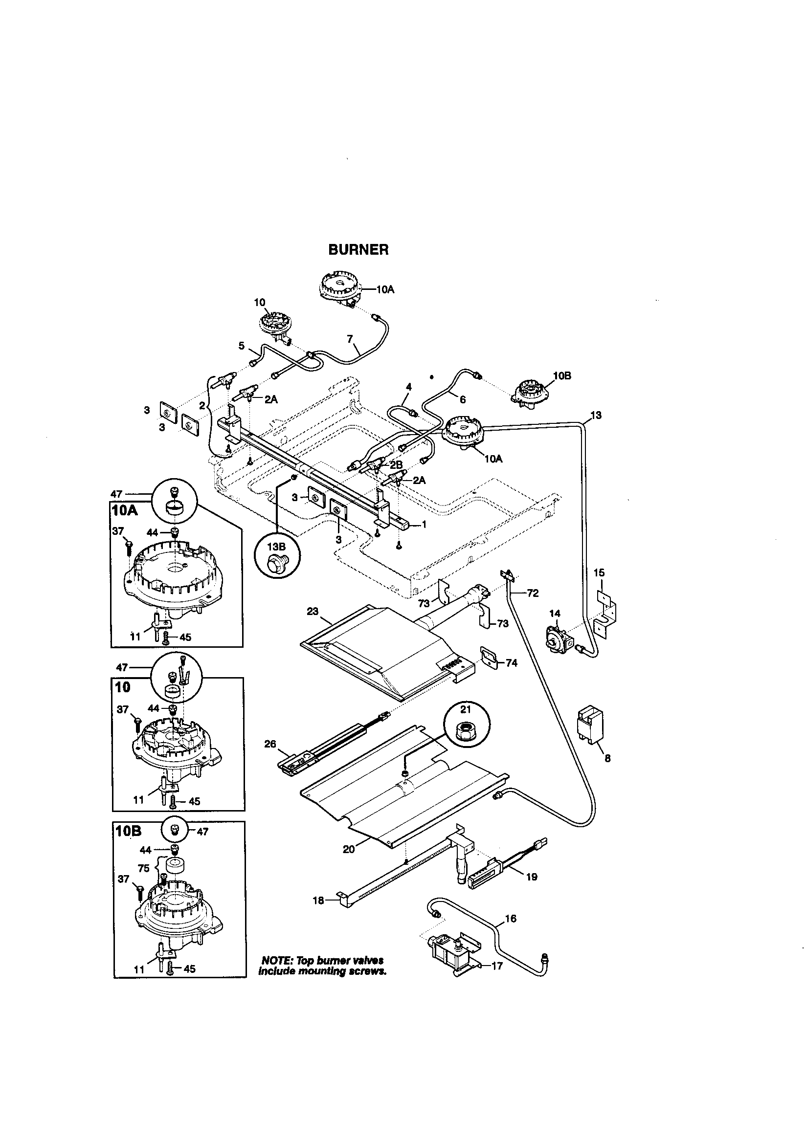 kenmore gas range wiring diagram parts model 79075902990