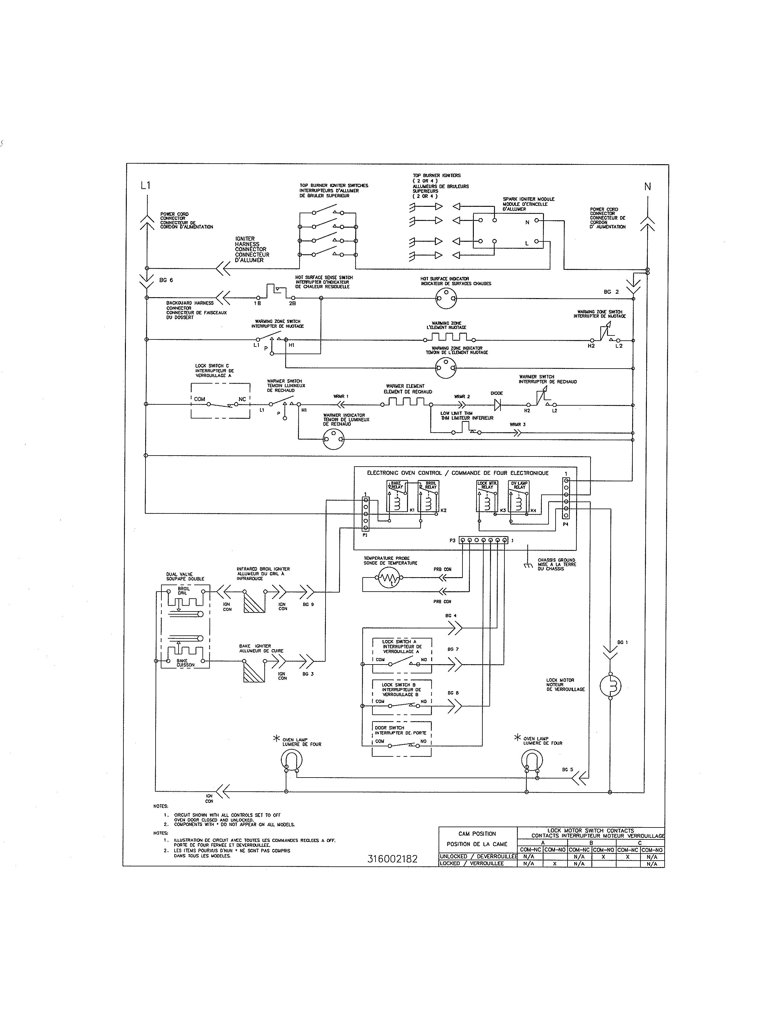 kenmore gas range wiring diagram
