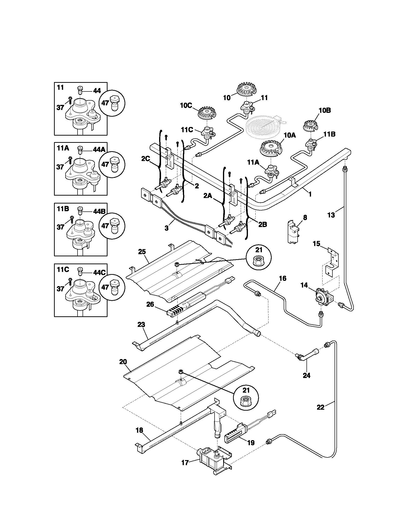Kenmore Gas Oven Parts Diagram Periodic Amp Diagrams Science