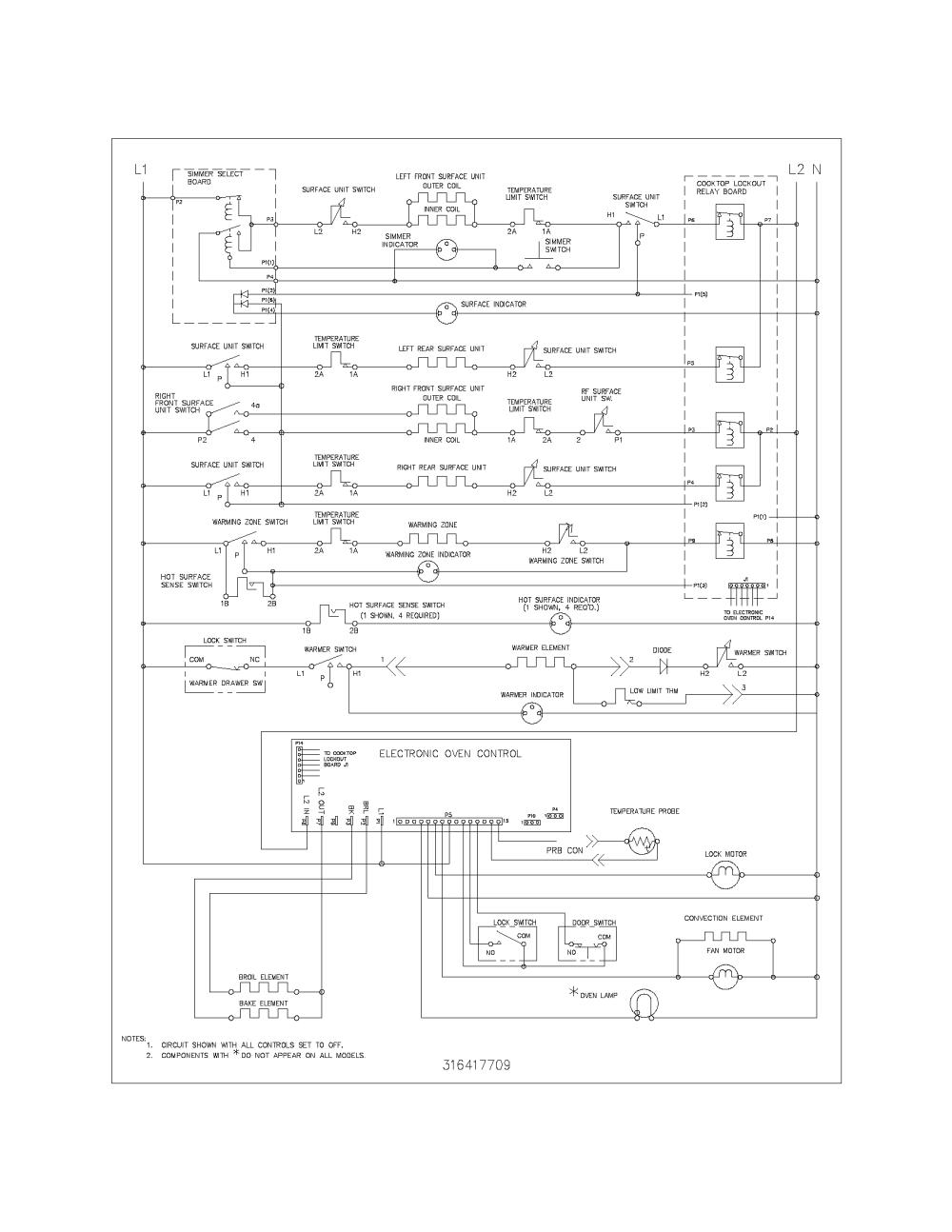 medium resolution of 79096612400 electric range wiring schematic parts diagram