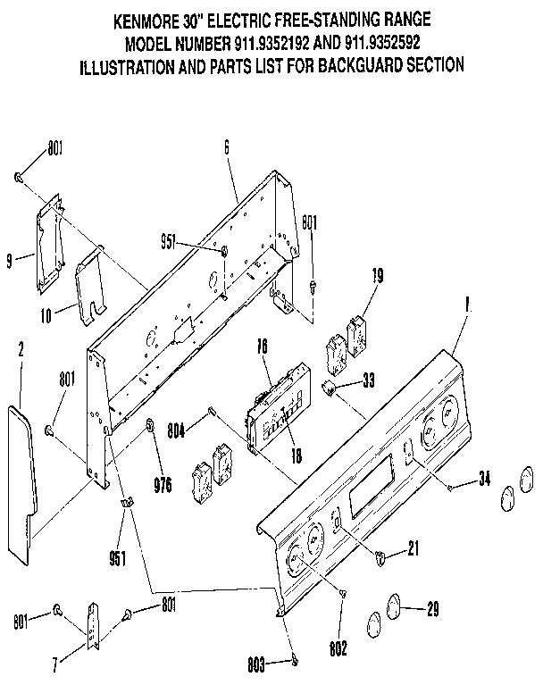 Kenmore Stove Top Wiring Diagram Model 427 49403