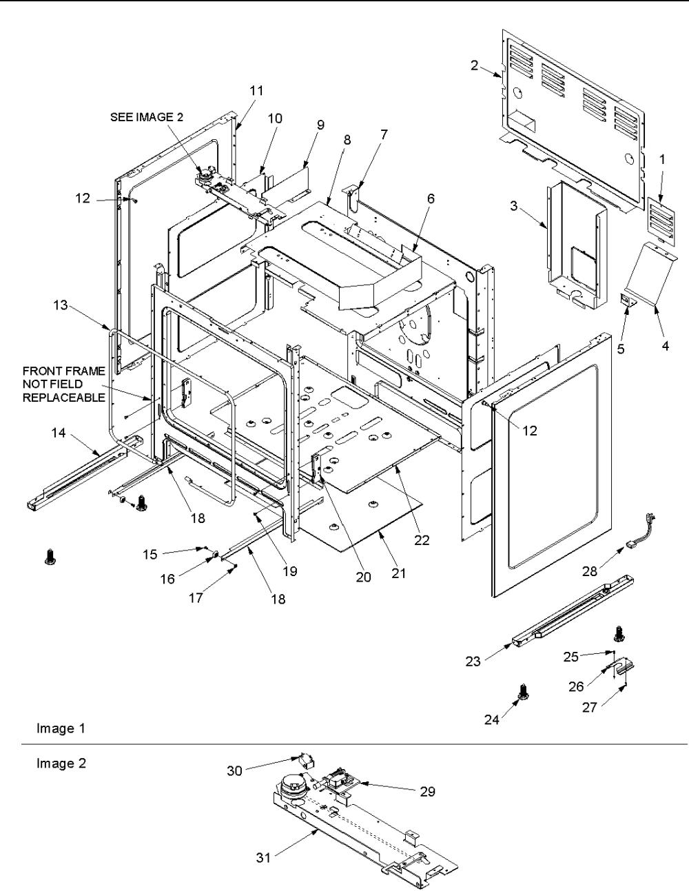 medium resolution of acf3325aw gas range cabinet parts diagram