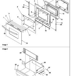 arg7600ll gas range oven door and storage door parts diagram [ 816 x 1013 Pixel ]