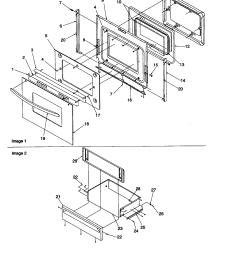 artc7511ww electric range oven door and storage drawer parts diagram [ 1696 x 2200 Pixel ]