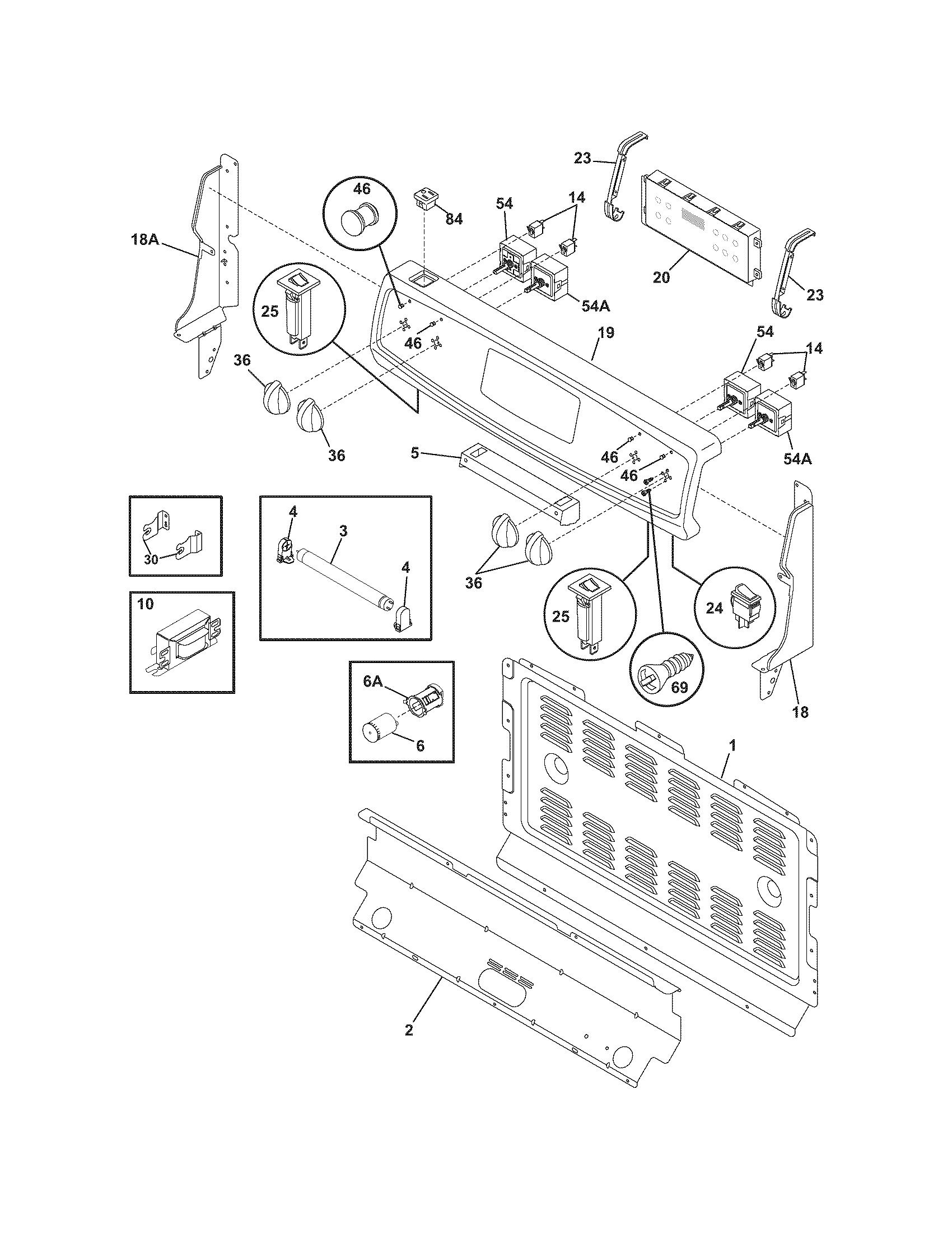 Frigidaire Cfef358eb2 Electric Range Timer