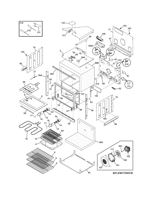small resolution of cpeb30s8cc2 wall oven body parts diagram