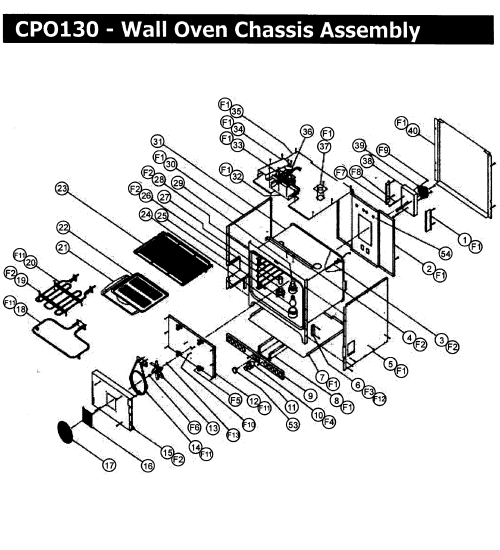 small resolution of cpo130 wall oven chassis assy parts diagram