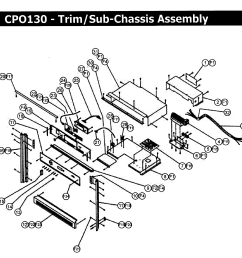 cpo130 wall oven trim assy parts diagram [ 2396 x 2406 Pixel ]