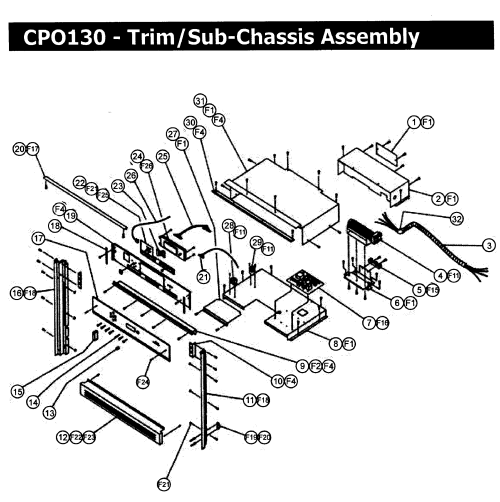 small resolution of cpo130 wall oven trim assy parts diagram