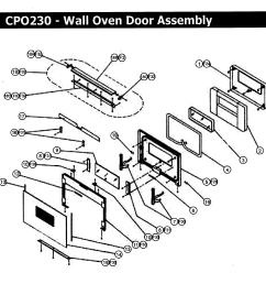 cpo230 wall oven door assy parts diagram [ 2397 x 2472 Pixel ]