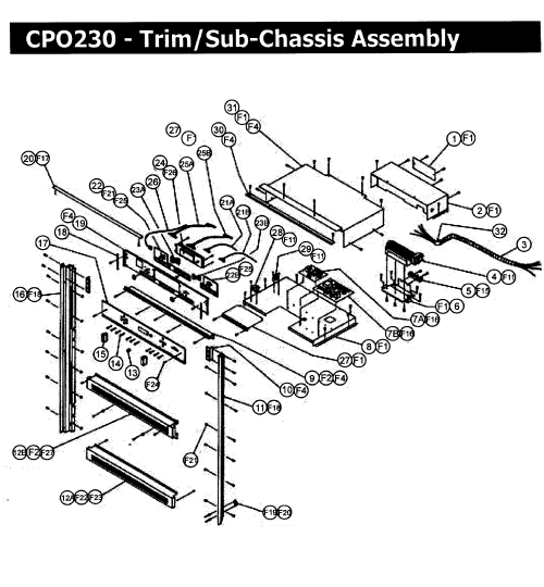 small resolution of cpo230 wall oven trim assy parts diagram