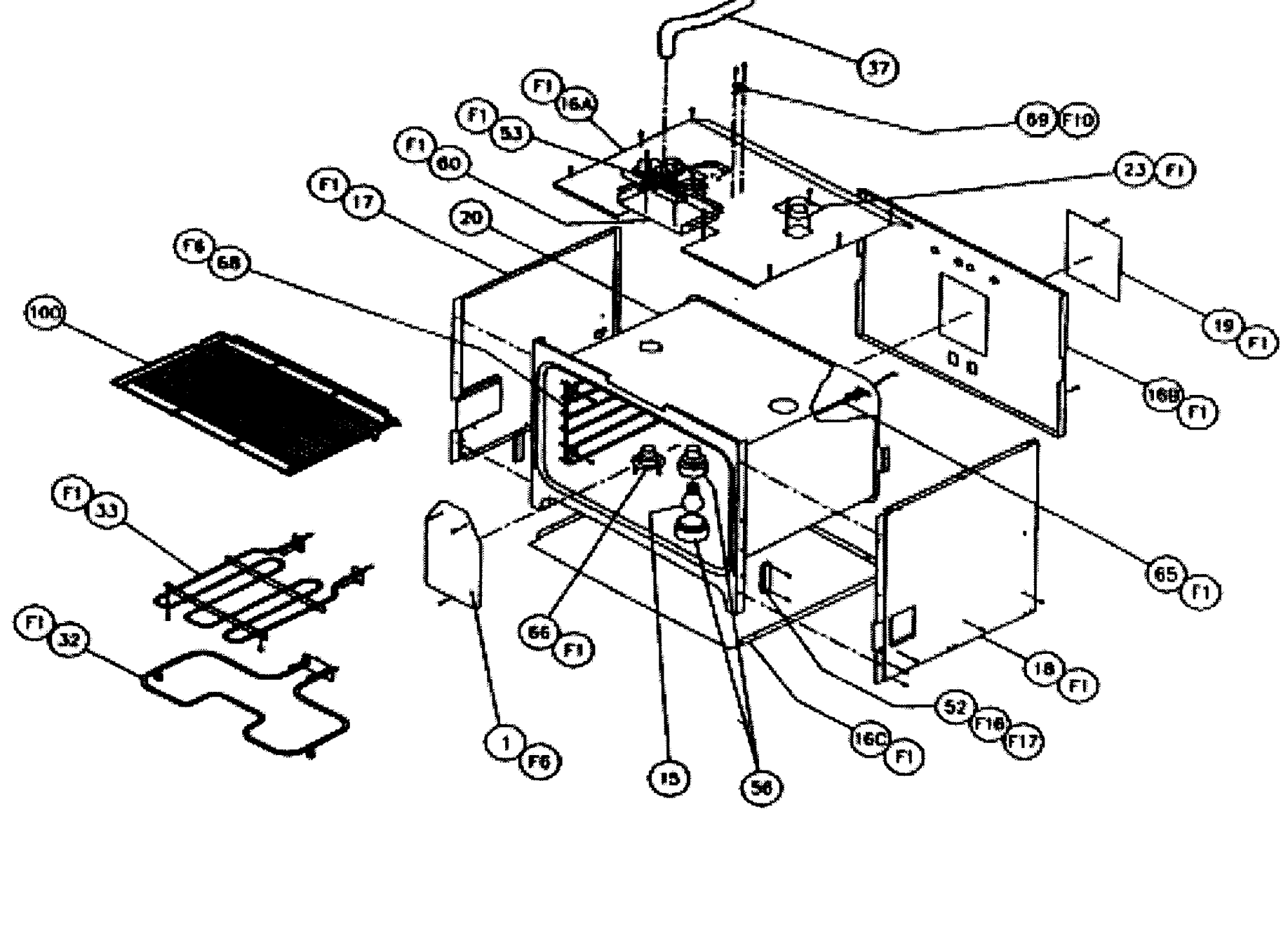 hight resolution of cps127 oven non conv oven parts diagram