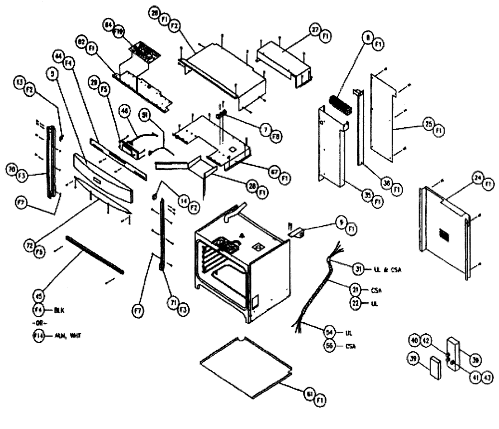 medium resolution of cps130 oven cabinet parts diagram