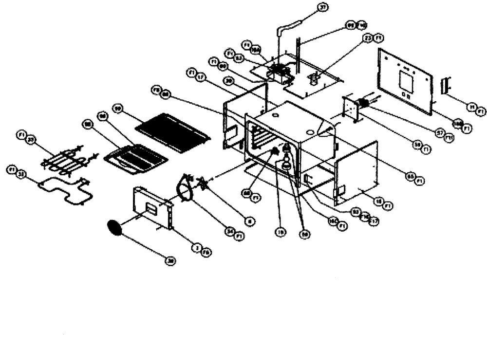 medium resolution of cps130 oven conv oven parts diagram