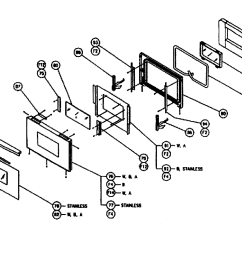 cps130 oven door assy parts diagram [ 2547 x 1770 Pixel ]