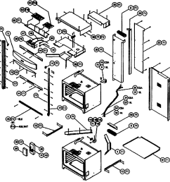 cps230 oven cabinet parts diagram [ 2546 x 2089 Pixel ]
