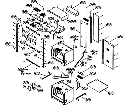 small resolution of cps230 oven cabinet parts diagram
