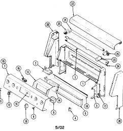 cre9500adw range control panel parts diagram [ 2103 x 2053 Pixel ]