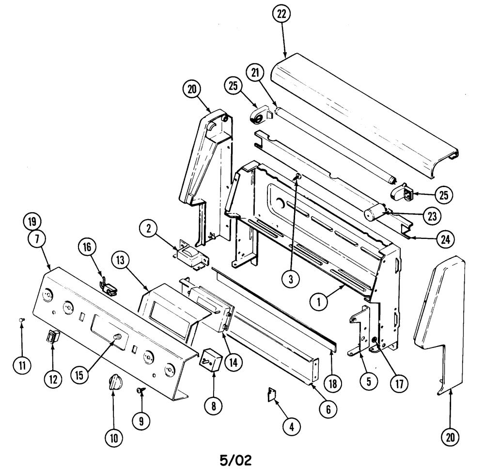 medium resolution of cre9500adw range control panel parts diagram