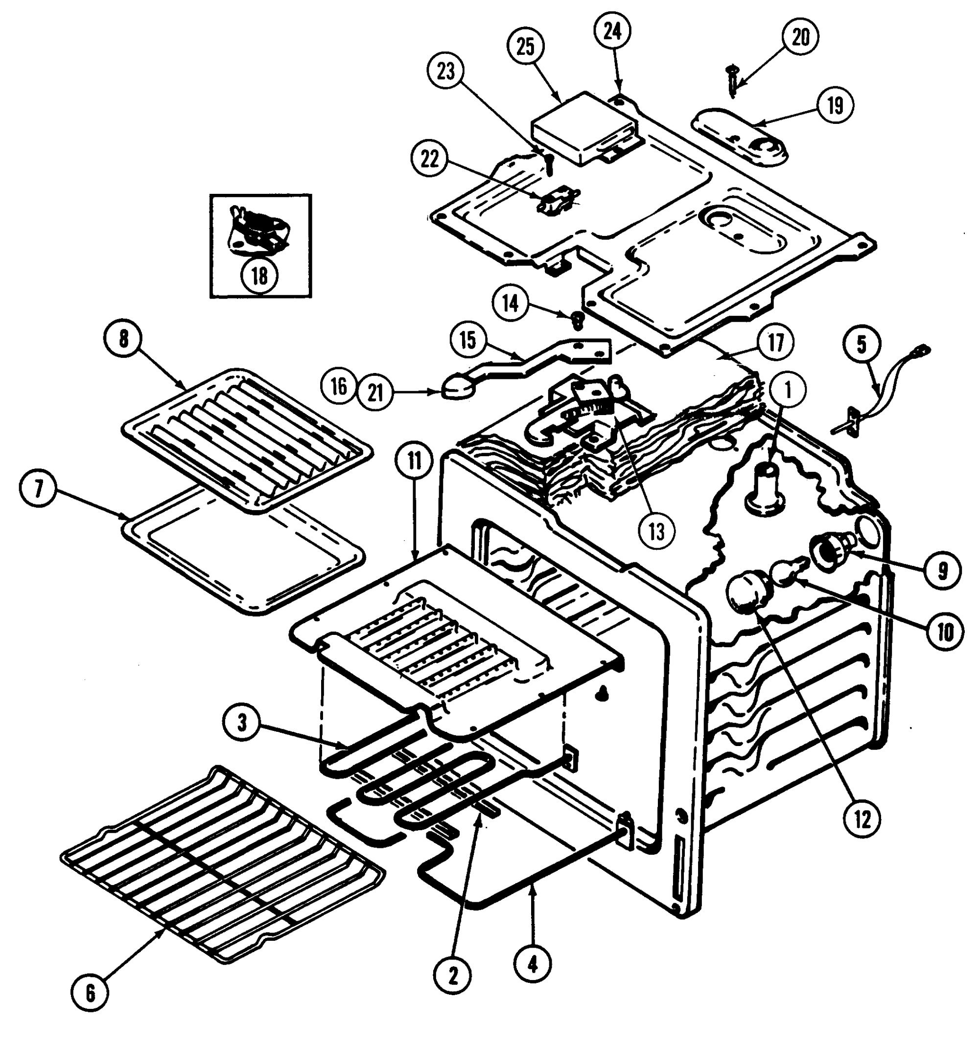 hight resolution of cre9500adw range oven parts diagram