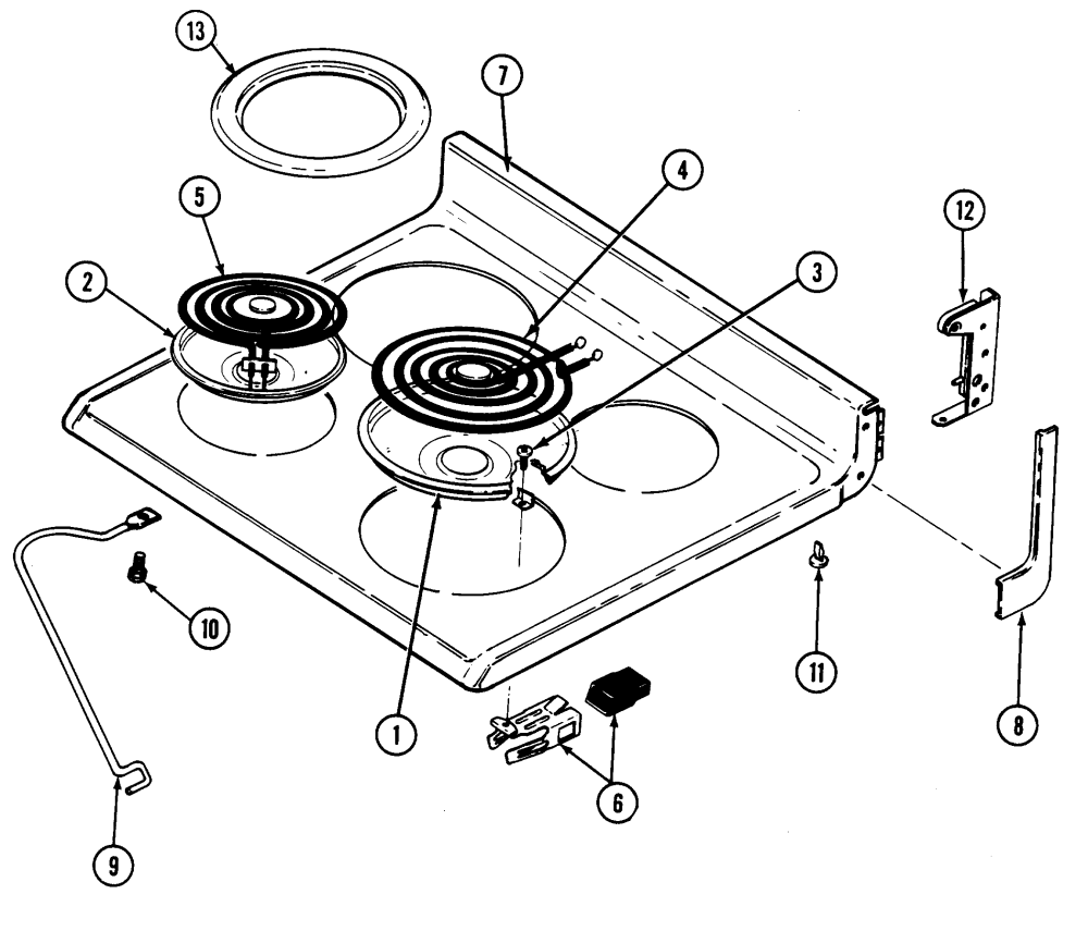 medium resolution of cre9500adw range top assembly parts diagram maytag cre9500adw timer stove