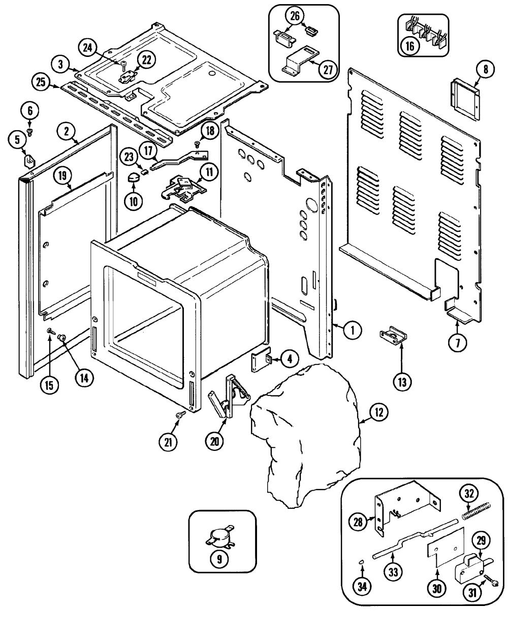 medium resolution of cre9600 range body parts diagram