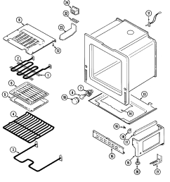 cre9600 range oven base parts diagram [ 2169 x 2345 Pixel ]