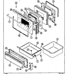cre9800ace range door drawer parts diagram [ 1136 x 1466 Pixel ]