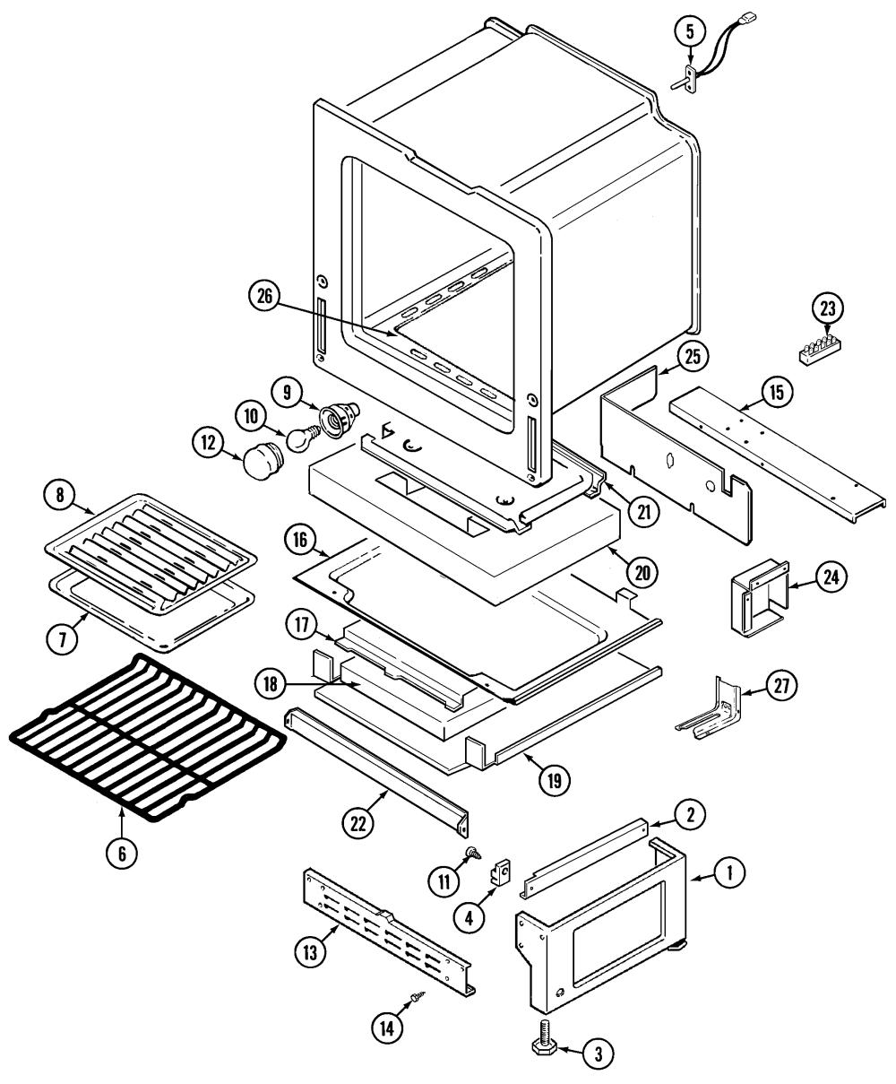 medium resolution of crg9700cae range oven base parts diagram
