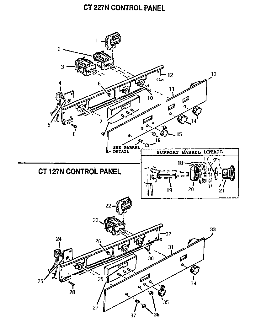 hight resolution of ct227n electric wall oven control panel parts diagram