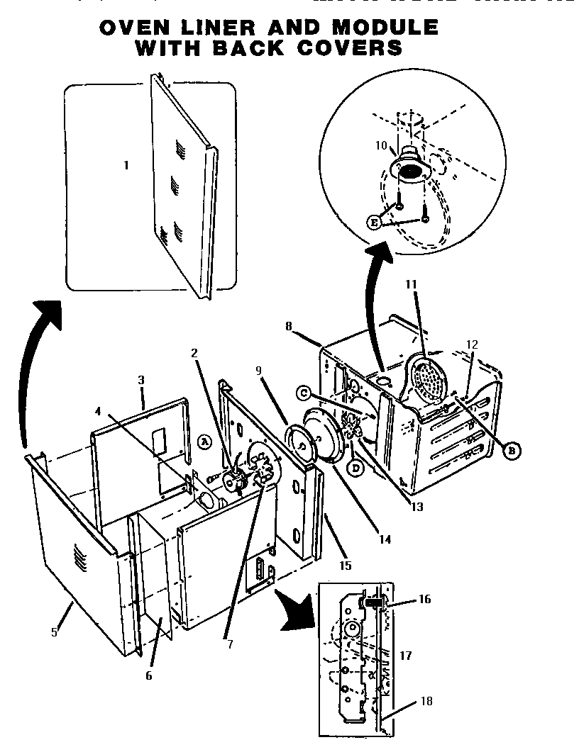 hight resolution of ct227n electric wall oven oven liner parts diagram