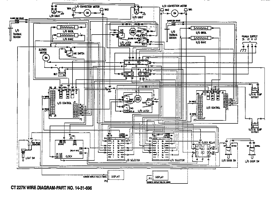 wiring diagram for electric wall oven