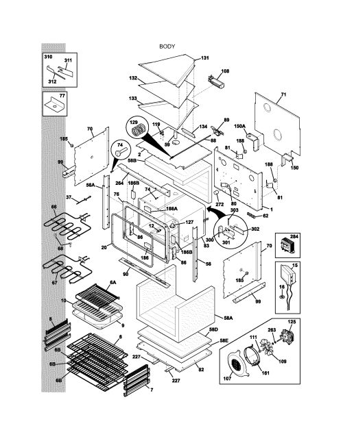 small resolution of e30ew75dss1 wall oven body parts diagram