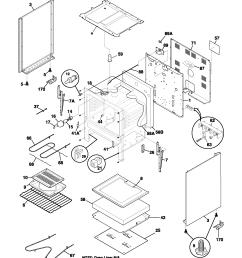 fef352asf electric range body parts diagram [ 1700 x 2200 Pixel ]