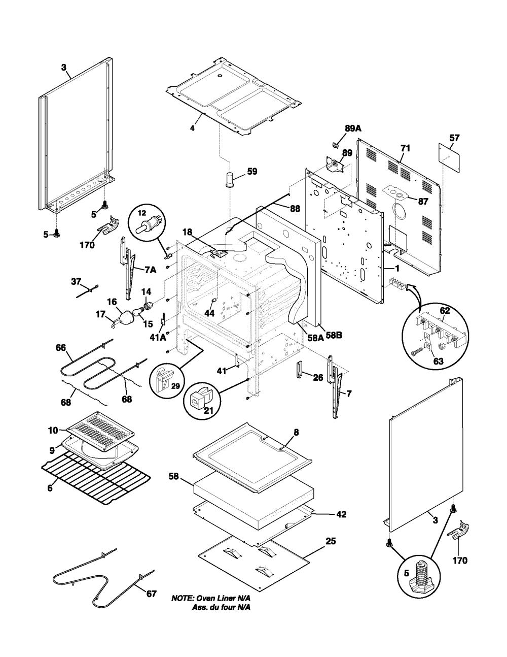 medium resolution of fef352asf electric range body parts diagram