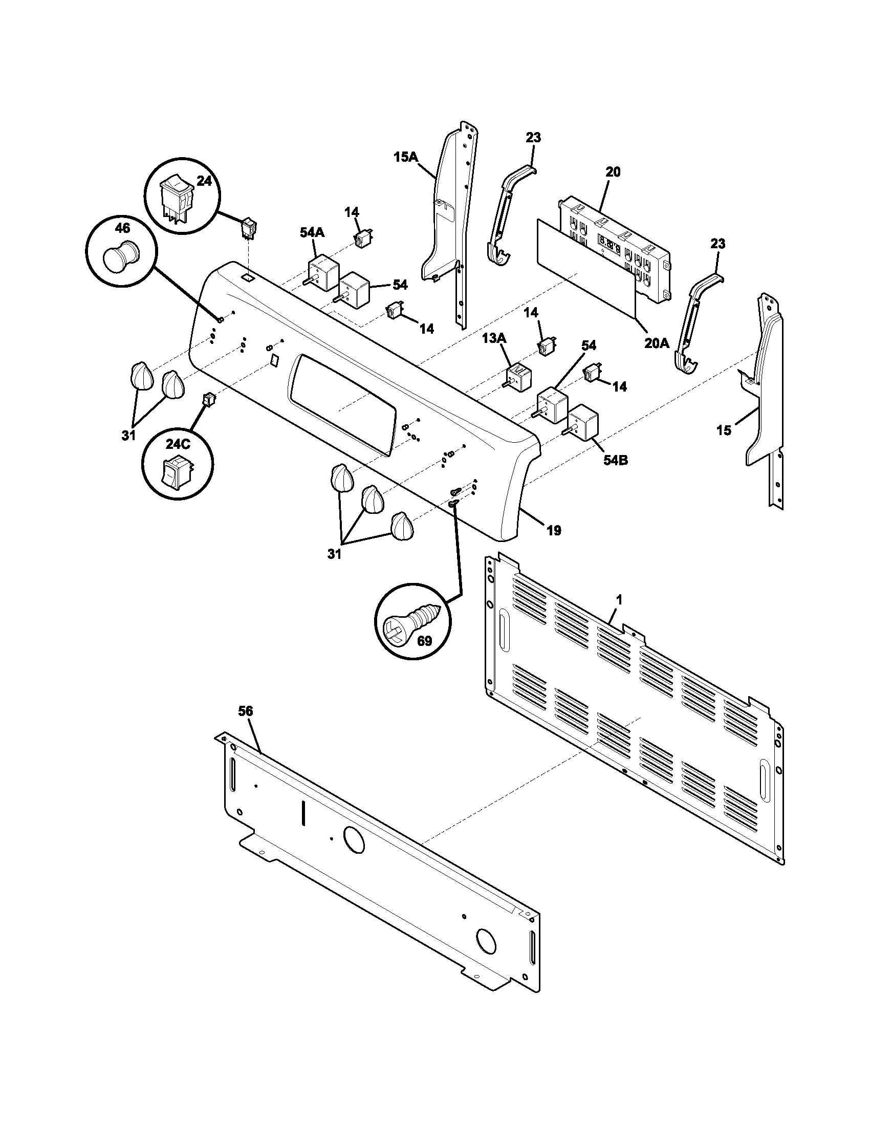 Frigidaire Fef380mxdca Electric Range Timer