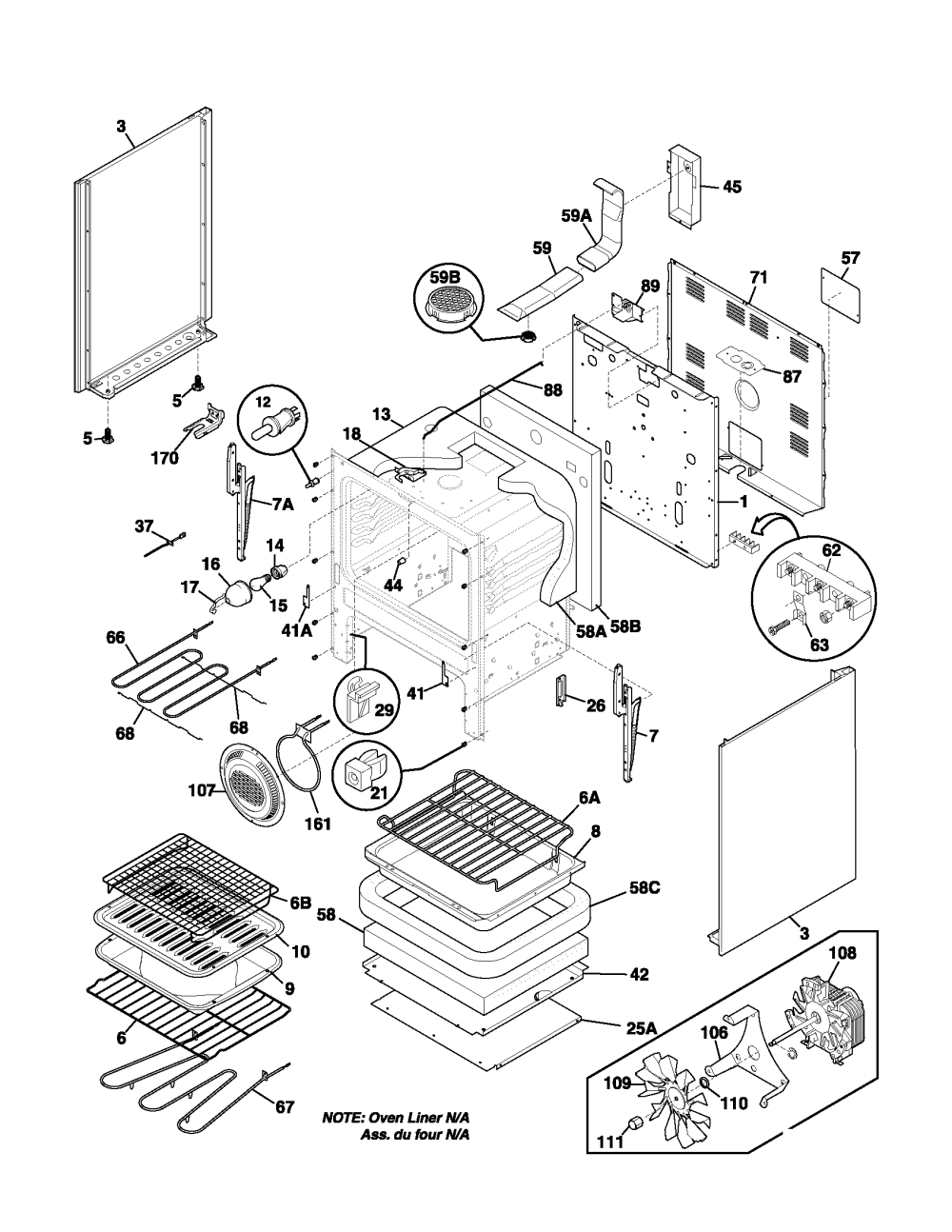 medium resolution of fefl88acc electric range body parts diagram