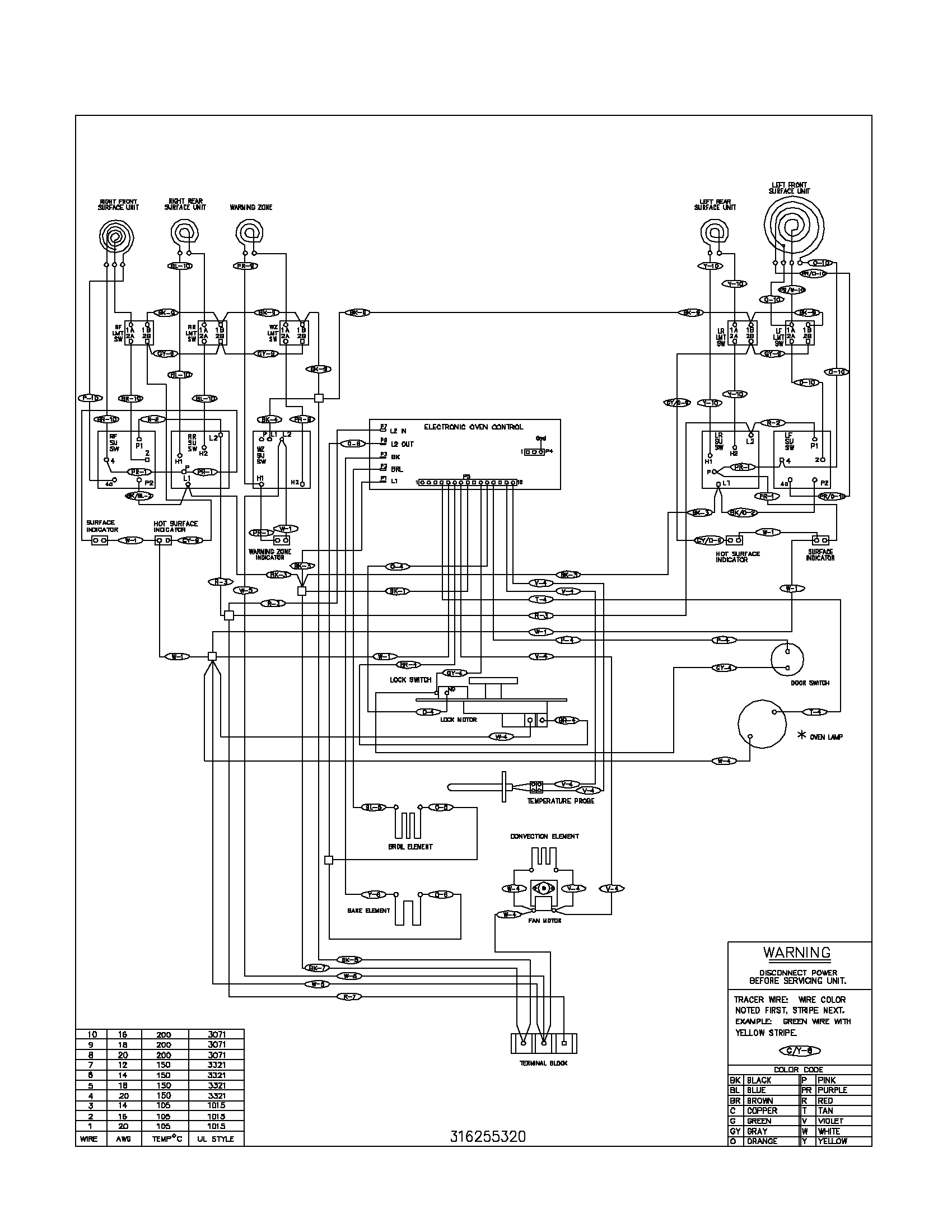 whirlpool electric range wiring schematic
